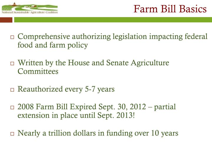 Farm bill basics