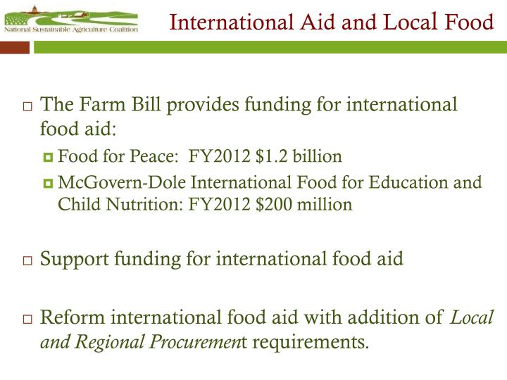 International Aid and Loca