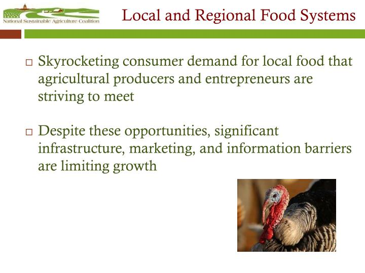 Local and Regional Food Systems