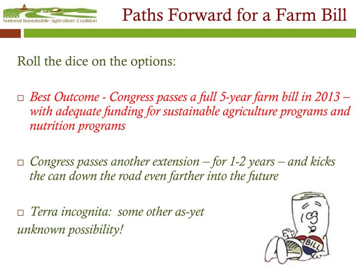 Paths Forward for a Farm Bill