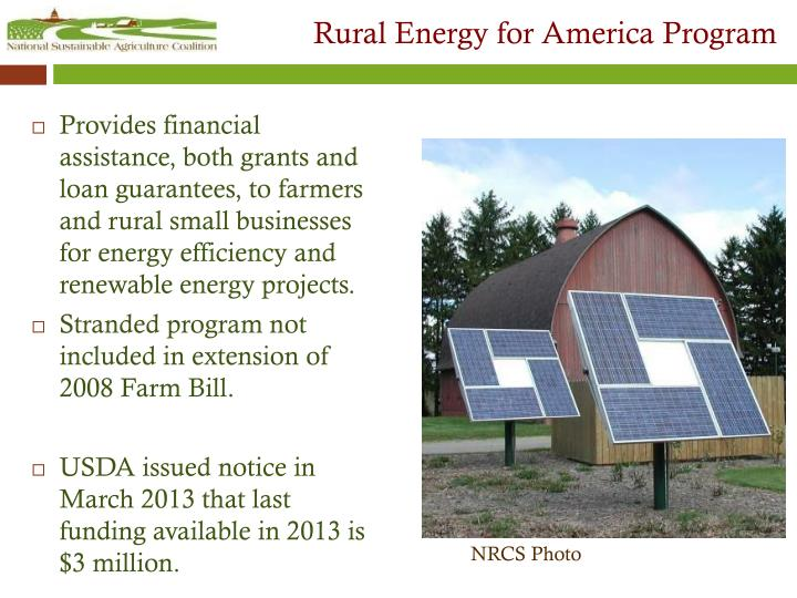 Rural Energy for America Program