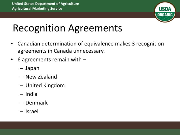 Recognition Agreements