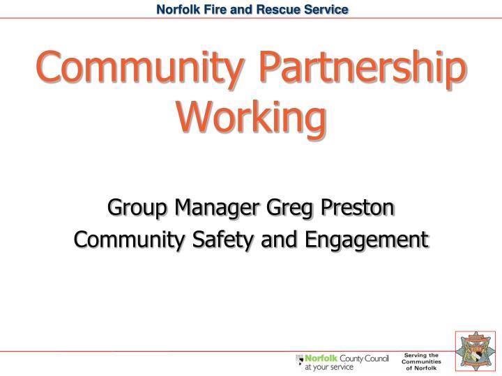 Community Partnership Working