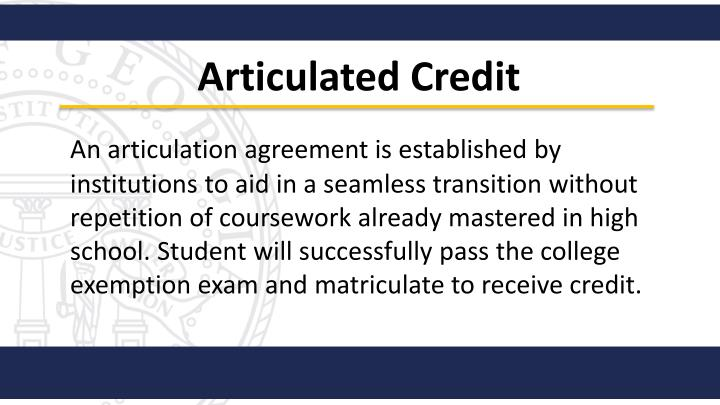 Articulated Credit