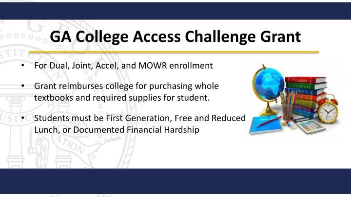 GA College Access Challenge Grant