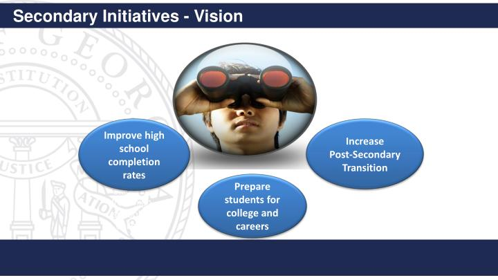 Secondary Initiatives - Vision