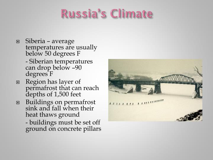 Russia's Climate
