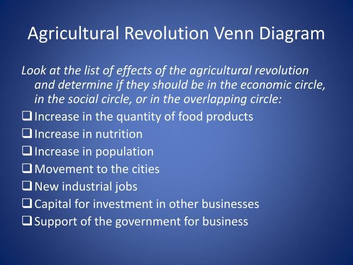 Agricultural Revolution Venn Diagram
