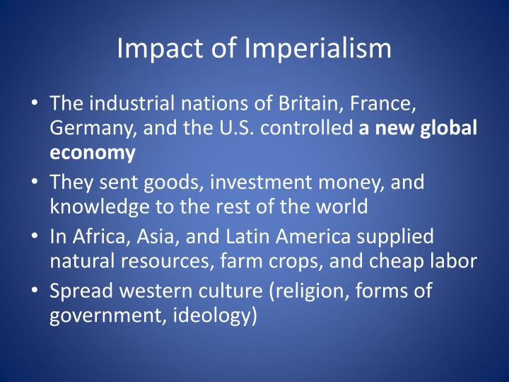Impact of Imperialism