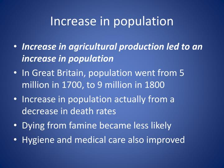 Increase in population