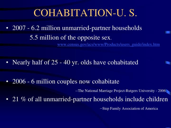 COHABITATION-U. S.