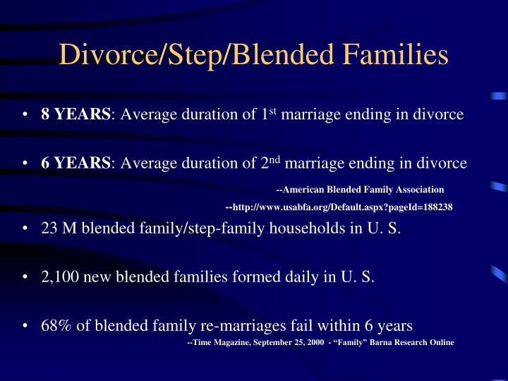 Divorce/Step/Blended Families