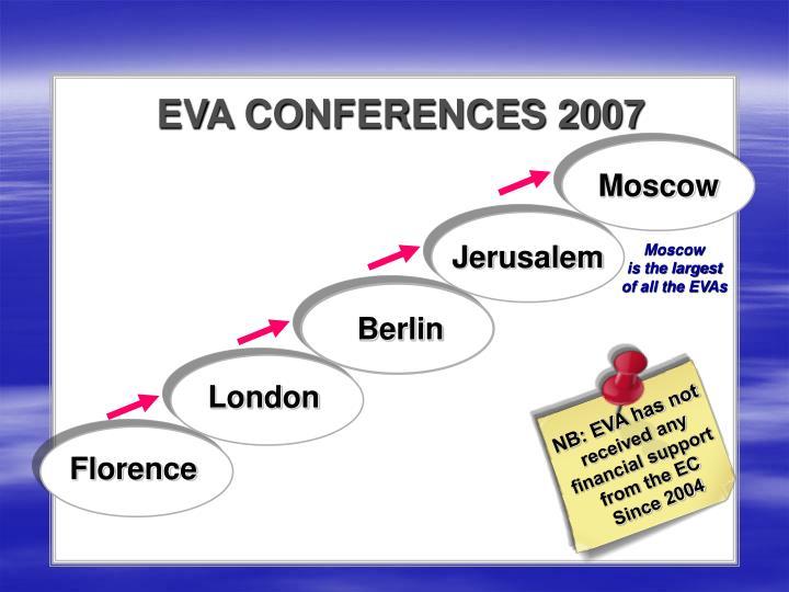 EVA CONFERENCES 2007