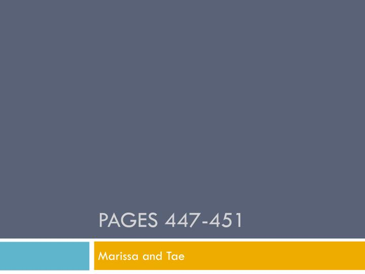 Pages 447-451
