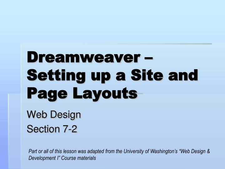 how to create a site in dreamweaver