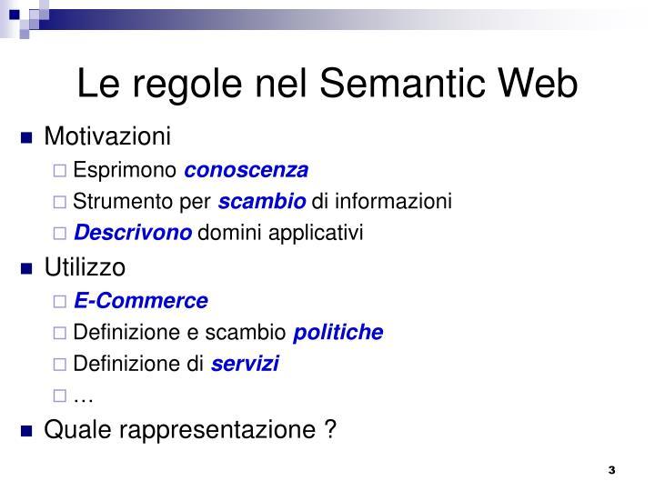 Le regole nel Semantic Web