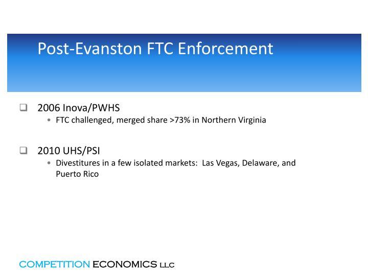Post-Evanston FTC Enforcement