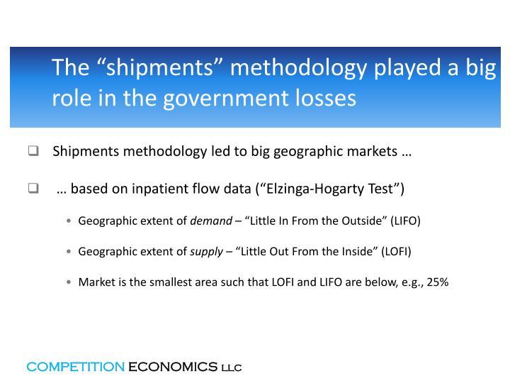 """The """"shipments"""" methodology"""