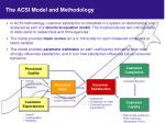 the acsi model and methodology