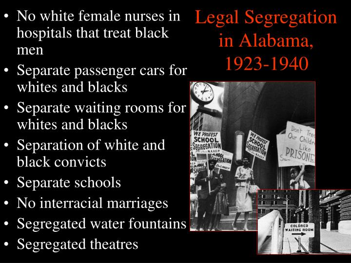 Legal Segregation in Alabama, 1923-1940