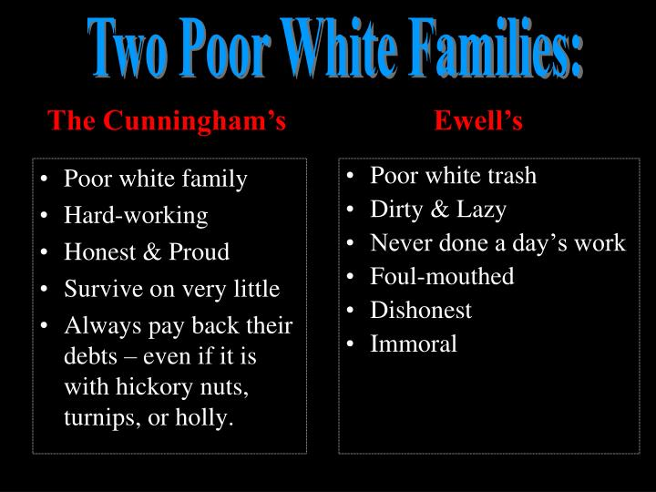 Poor white family