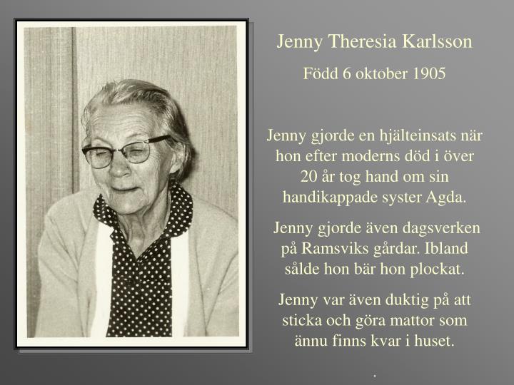 Jenny Theresia Karlsson