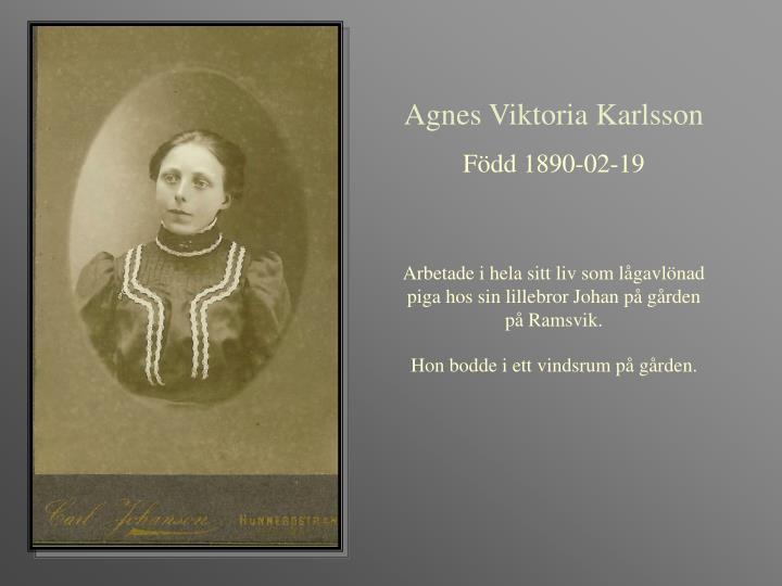 Agnes Viktoria Karlsson