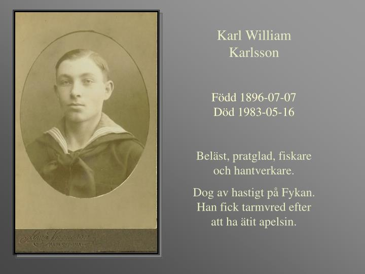 Karl William Karlsson