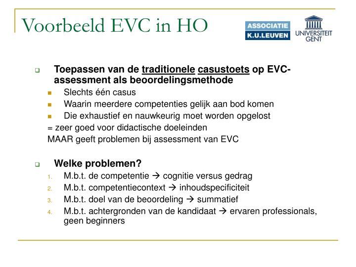 Voorbeeld EVC in HO