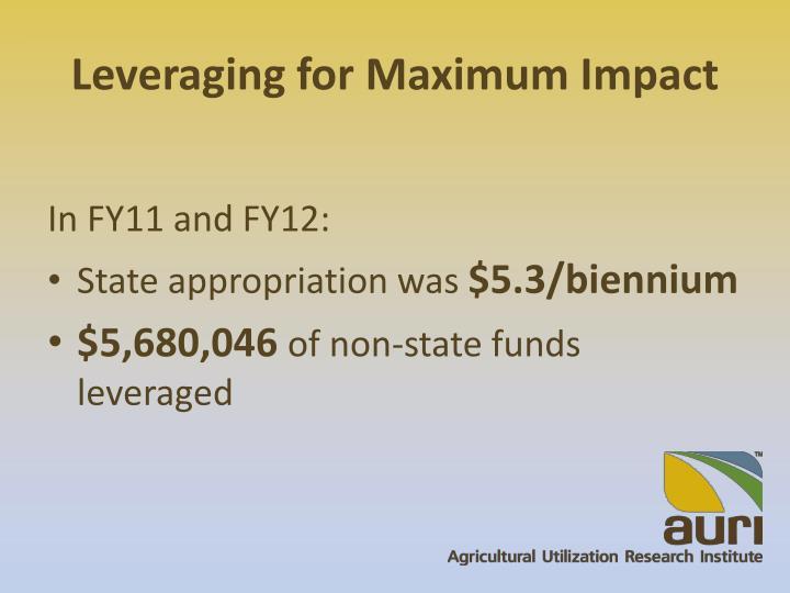 Leveraging for Maximum Impact