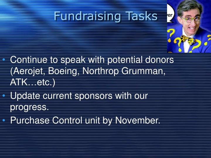 Fundraising Tasks