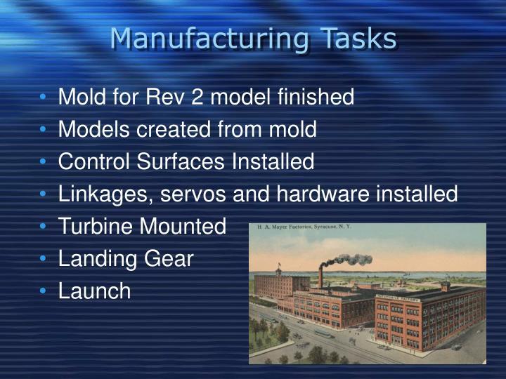 Manufacturing Tasks
