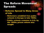 the reform movement spreads1