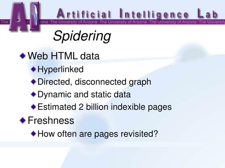 Web HTML data