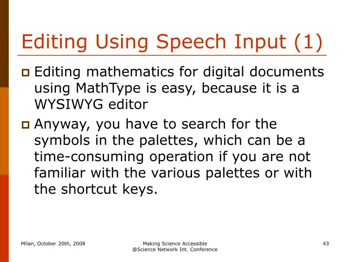 Editing Using Speech Input (1)