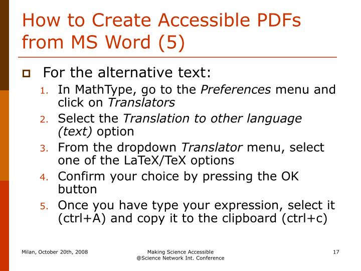 How to Create Accessible PDFs from MS Word (5)