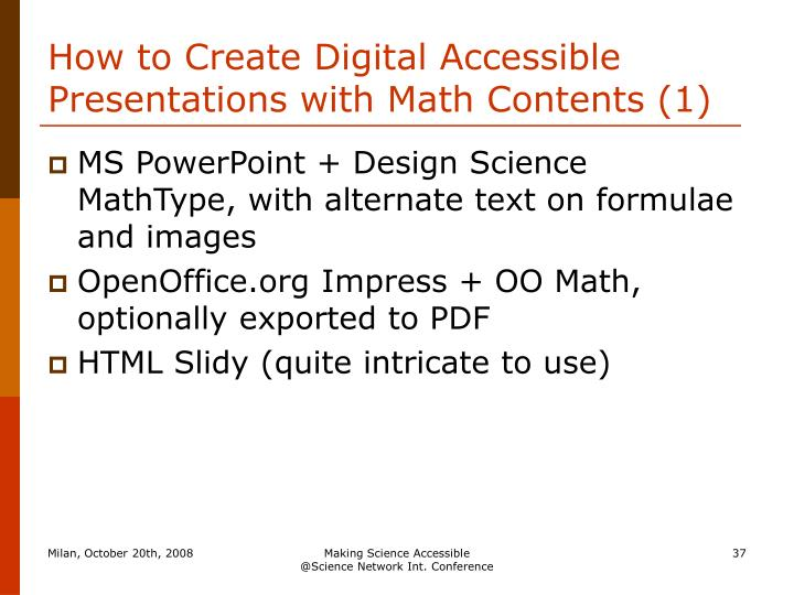 How to Create Digital Accessible Presentations with Math Contents (1)
