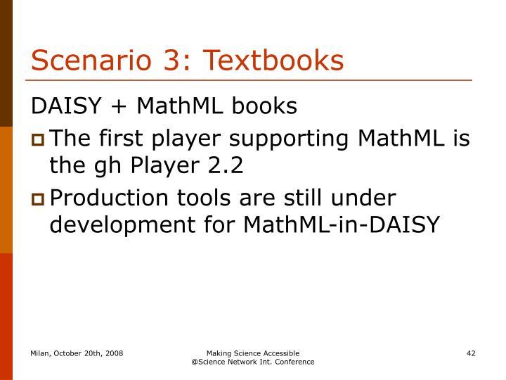 Scenario 3: Textbooks