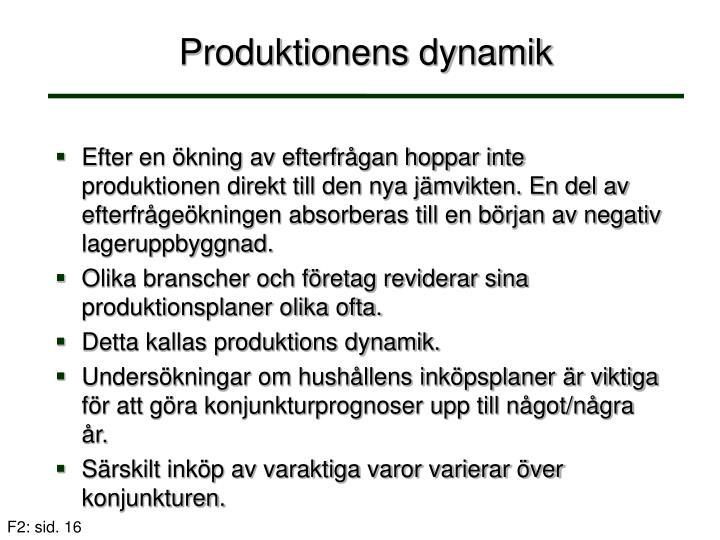 Produktionens dynamik