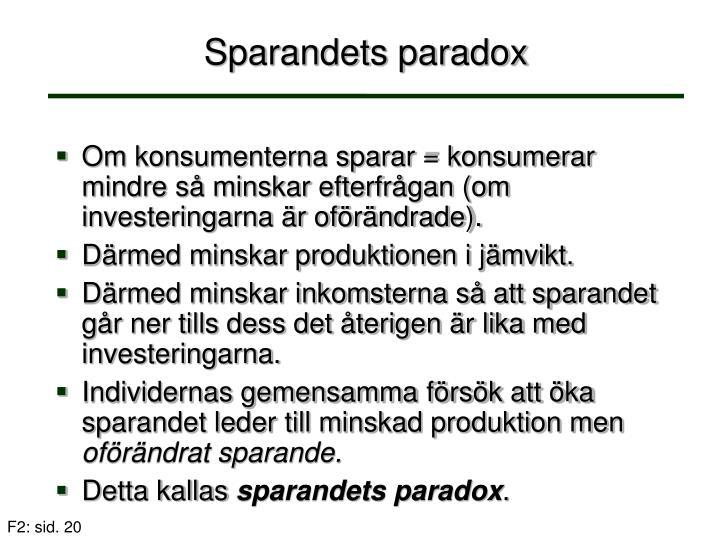 Sparandets paradox