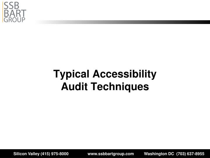 Typical Accessibility