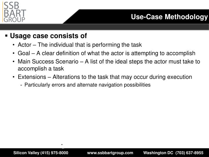 Use-Case Methodology