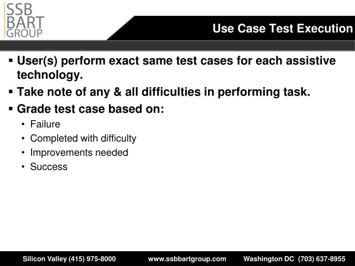 Use Case Test Execution