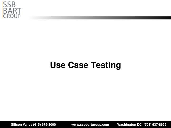 Use Case Testing