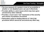 use case testing strengths