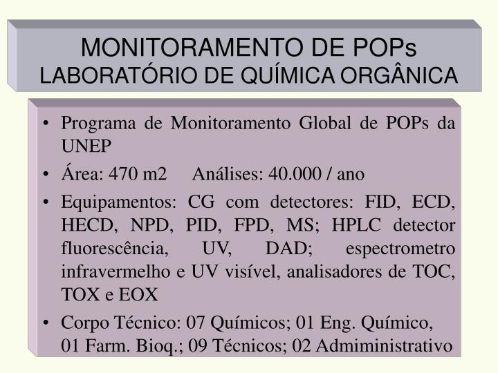 MONITORAMENTO DE POPs