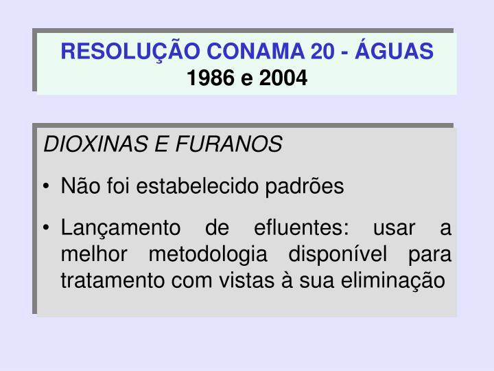 RESOLUÇÃO CONAMA 20 - ÁGUAS