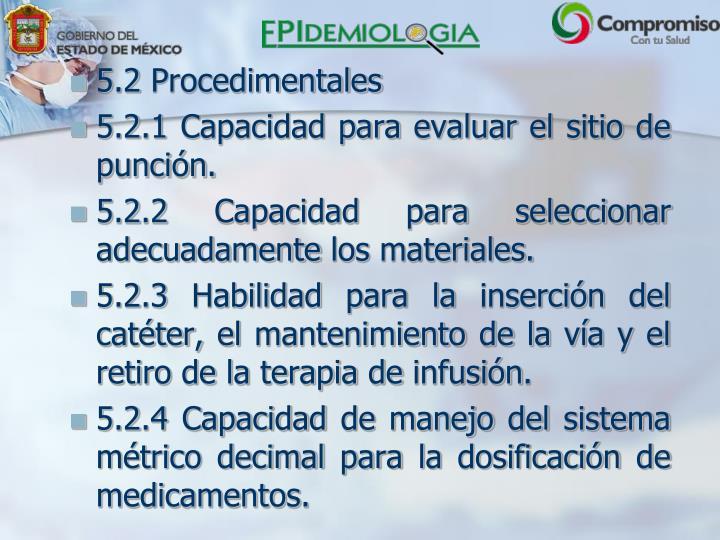 5.2 Procedimentales