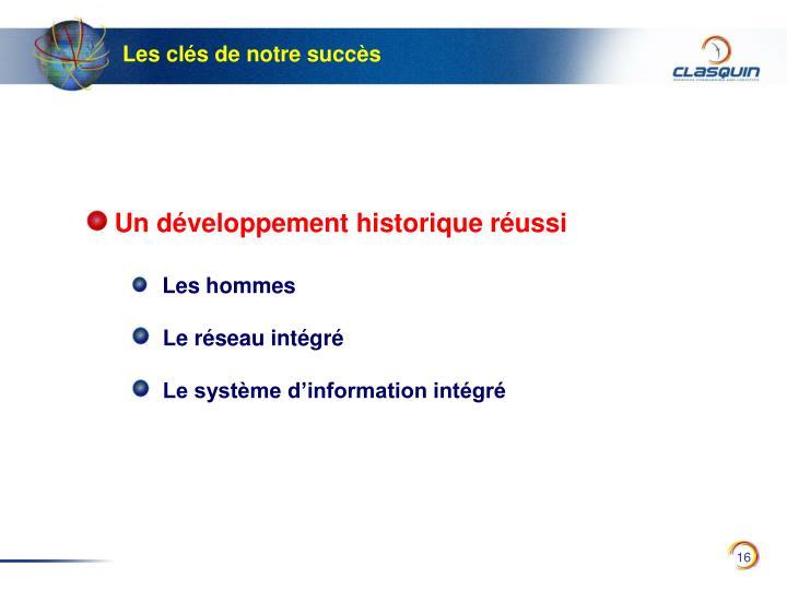 Un développement historique réussi
