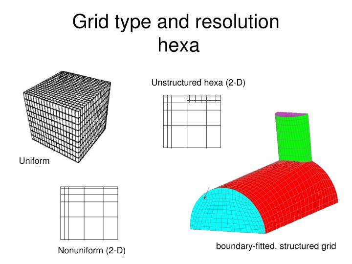 Grid type and resolution